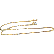 "14KT Yellow Gold Italian Chain Necklace - 22"" Long"