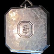"""1915 Sterling George K Webster Locket Pendant - 1 1/8"""" x 1 1/8"""""""