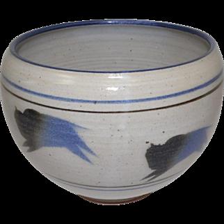 "Cornshucker Stoneware Bowl w/Buffalo Design - 7"" Diameter"
