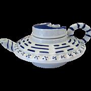 "Oriental Porcelain YingYang Motif Lidded Tea Pot - 5 1/2"" Long"