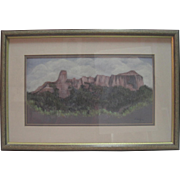 "Watercolor by Lorraine Sells - ""Clouds Over Courthouse Mountain"" Colorado"