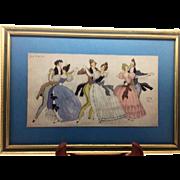 Serge Ivanoff - Paris 1932 Color Print - La Valse - Attractive
