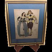 Serge Ivanoff - Paris 1937 Color Print - La Pavane - Attractive