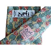 Hermes 7490IA - Flowers & Pods Authentic Vintage Silk Tie