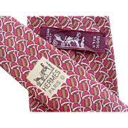 Hermes 7268MA - Bridles & Bits Authentic Vintage Silk Tie