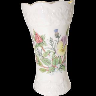 Aynsley Fine Bone China - Wild Tudor Pattern - Mini John Aynsley Vase