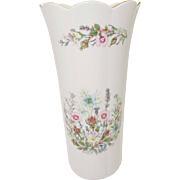 Aynsley Fine Bone China - Wild Tudor Pattern - Large John Aynsley Vase