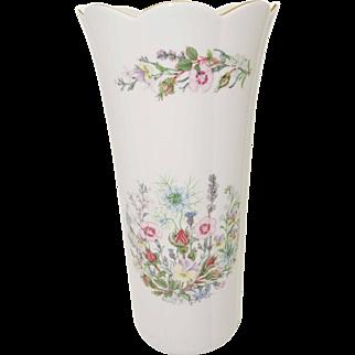 Aynsley Fine Bone China - Wild Tudor Pattern - Large John Aynsley Vase