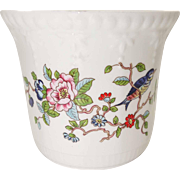 Aynsley Fine Bone China - Pembroke Pattern - Small John Aynsley Planter - Made in England