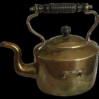 Victorian Style Antique Brass Spirit Kettle