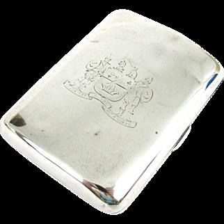 Antique Sterling Silver Cigarette Case, Scottish Clan Armorials