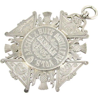 Edwardian Large Silver Prize Medallion, Argyll and Bute Artillery