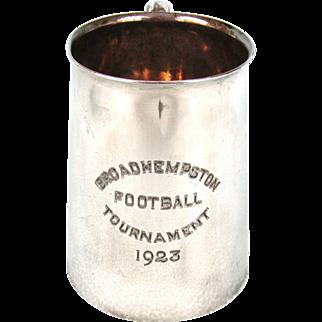 Silver Plate Football Tournament Tankard