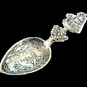 Silver Caddy Spoon Karl Kurz Rare