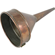 Antique Copper Funnel