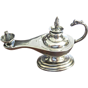 Vintage Sterling Silver Aladdin's Oil Lamp - Made in Peru