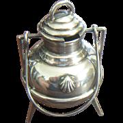 Vintage Sterling Silver 3 Legged Mustard Condiment Pot