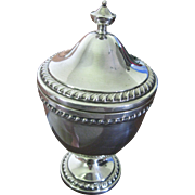 """Frank Whiting 7 1/2"""" Sterling Covered Urn with Decoration"""
