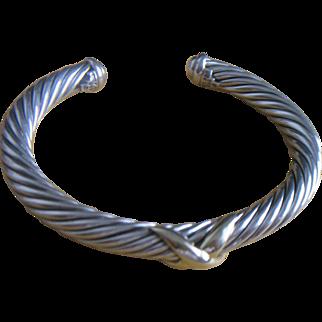 David Yurman X Bracelet with 14k Domes 7mm