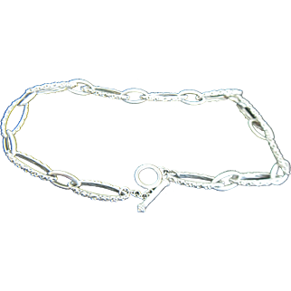 Charles Krypell Sterling Silver Ivy Link Necklace