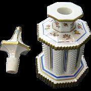 Antique 19th Century German Meissen Porcelain Perfume Bottle