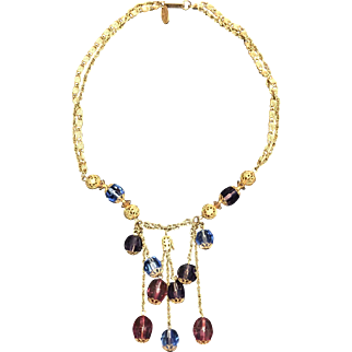 Vintage Signed Miriam Haskell Necklace