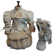 """""""Classic Jumeau BeBe Two Piece Costume with Matching Bonnet"""""""