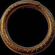 Late Georgian - Early Victorian 9ct gold split ring