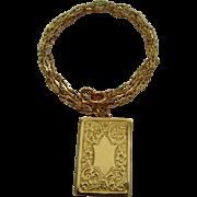 Vintage Chester hallmarked 9ct gold locket and chain