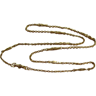Victorian 9ct gold 22 inch fancy link chain