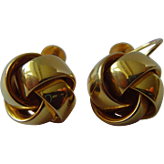 Vintage 9 ct gold knot earrings