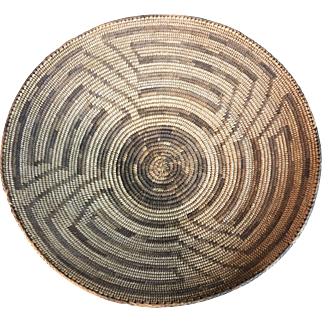 Antique Pima Native American Basket Bowl