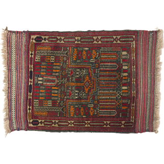 20th C Hand Knotted Persian Prayer Rug