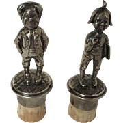 WMF  Silverplate Figural Wine Bottle Stoppers, Beehive Mark