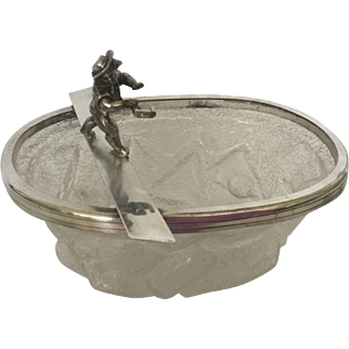 WMF  Figural Silverplate & Glass Ice Bucket