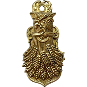 Figural Brass  Sheath of Wheat Letter Clip, Holder