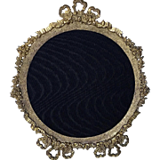 Ornate Brass Plated Victorian Frame, Bow Top and  Bow Feet