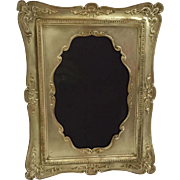 Ant Nouveau Brass Picture Frame with Exquisite Viewing Area