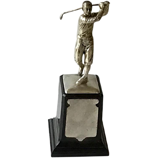 Art Deco Golf Trophy with Golfer in Knickers