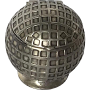 Figural Silverplate Golf Ball Inkwell, Jennings Brothers, 1930's