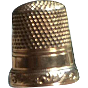 14kt Gold Victorian Sewing Thimble