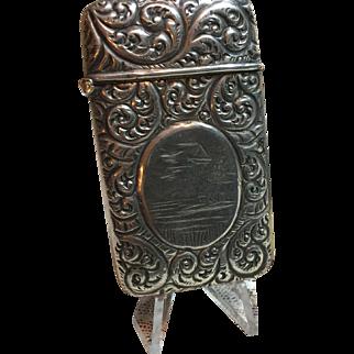 Antique Sterling Silver MatchSafe