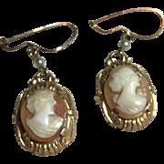 Lovely Cameo Dangle Earrings
