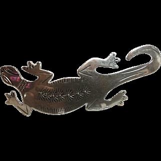 Vintage Native American Gecko Pin/Pendant-Sterling