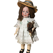 "Rare Beautifully Dressed  24"" K&R 116A Antique Toddler doll"