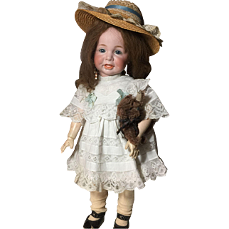 """Rare Beautifully Dressed  24"""" K&R 116A Antique Toddler doll"""