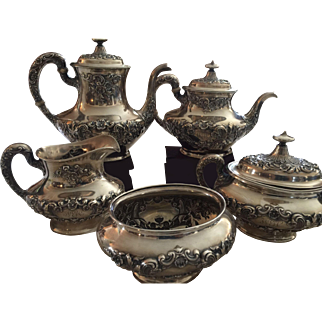 Buttercup by Gorham Sterling Silver -5 piece Tea Set