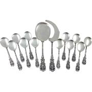 19th French Sterling Silver Ice cream Service