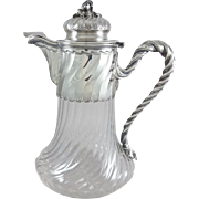 Sterling Silver And Crystal Ewer / claret jug