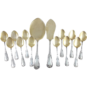 French Sterling Silver & Gilt Ice cream Service
